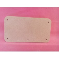 4mm MDF Rounded corner plaque with holes 150mm by 80mm Qty 10